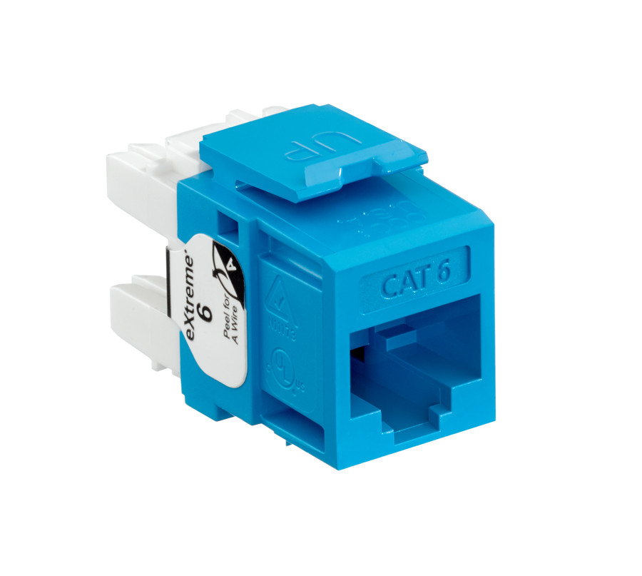 LEVITON eXtreme Cat 6 QuickPort Jack, Blue