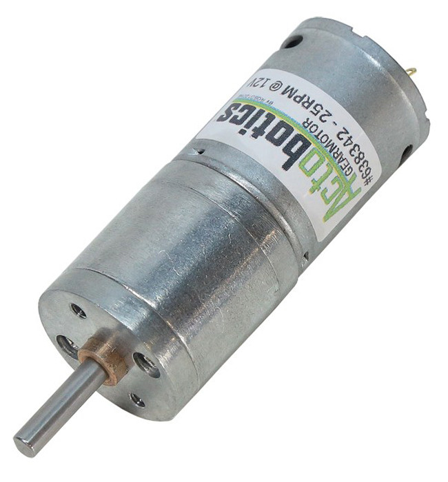 ACTOBOTICS 25 RPM Economy Gear Motor