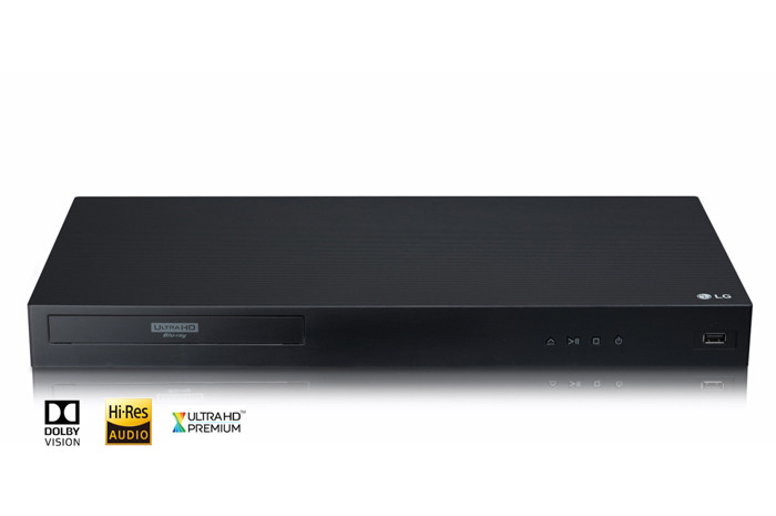 LG 4K Ultra-HD Blu-Ray Player with Built-in Wi-Fi and Streaming Services