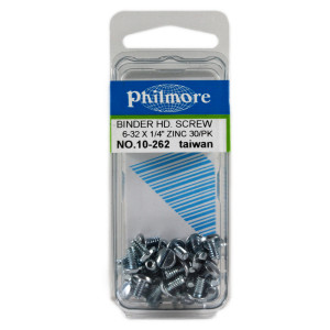 "PHILMORE 6-32 x 1/4"" Binder Head Screws 30pk"