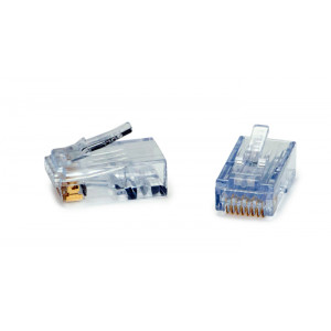 PLATINUM ezEX48 RJ-45 Crimp Connectors Cat6A 50-pack