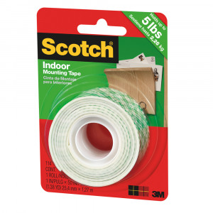 "3M Indoor Mounting Tape 1"" x 50"""