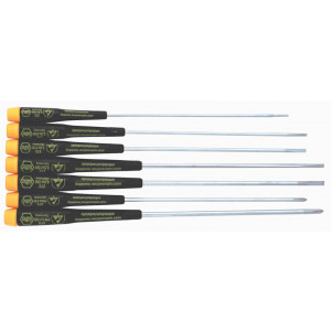 WIHA 7pc Extra Long Slotted/Phillips ESD Safe Screwdriver Set