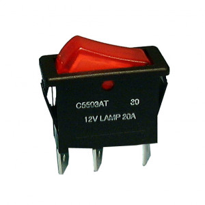 PHILMORE SPST On-Off Snap-in Rocker Switch Lighted 12V