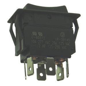 PHILMORE DPDT (On)-Off-(On) Heavy Duty Rocker Switch