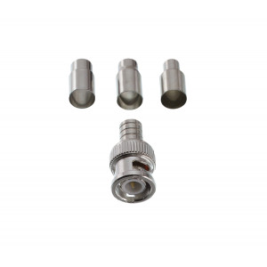 GEM BNC 2-piece Male Crimp Connector RG59,RG58, & RG6 10-pack