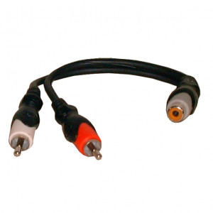 PHILMORE RCA Female to 2 RCA Male 'Y' Cable 6""