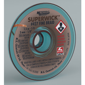 MG CHEMICALSSuper Wick .125 #5 Brown 5ft