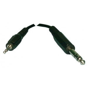 """PHILMORE 1/8"""" Stereo Male to 1/4"""" Stereo Male 6ft"""