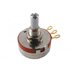"NTE Potentiometer 500K Ohm 2 Watt Linear Taper 1/4"" Shaft"