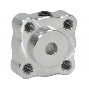"ACTOBOTICS Tapped Set Screw Hubs, 0.770"" Pattern 4mm Bore"