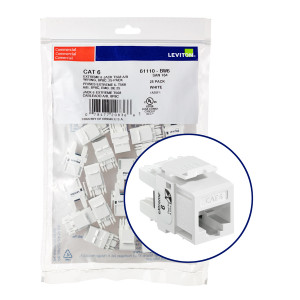 LEVITON eXtreme Cat 6 QuickPort Jack Quickpack, 25-pack, White