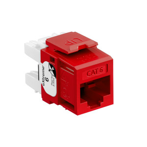 LEVITON eXtreme Cat 6 QuickPort Jack, Red