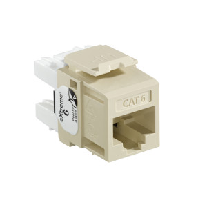 LEVITON eXtreme Cat 6 QuickPort Jack, Ivory