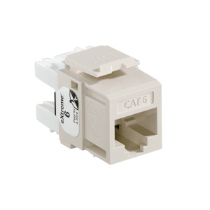 LEVITON eXtreme Cat 6 QuickPort Jack, Light Almond