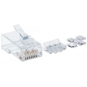 INTELLINET 80-Pack Cat6 RJ45 Modular Plugs