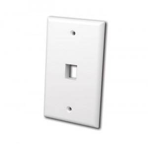 VANCO Quickport Wall Plate 1-Port White