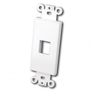 VANCO Quickport Decora Plate 1-Port White