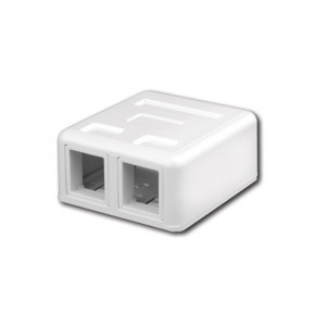 VANCO Surface-Mount Quickport Box 2-Port White