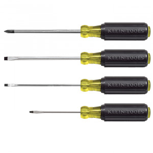 KLEIN Mini Cushion-Grip Screwdriver Set 4 Pc