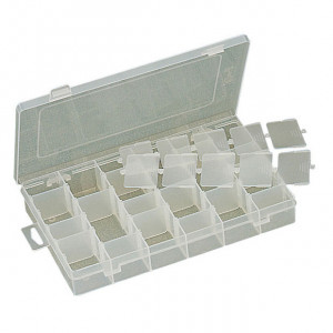 """ECLIPSE Plastic Box with Dividers 11""""X7""""X1.75"""""""