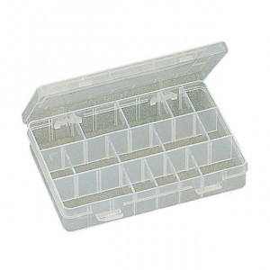 """ECLIPSE Plastic Box with Dividers 8""""X5.25""""X1.5"""""""