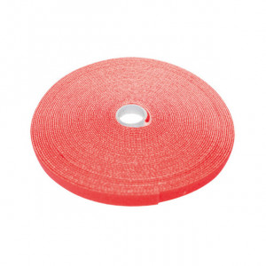 "ECLIPSE 3/4"" Wide Hook and Loop Tape Red (50 ft)"