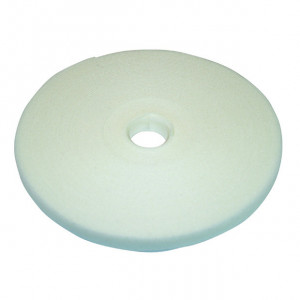 """ECLIPSE 1/2"""" Wide Hook and Loop Tape White (50 ft)"""