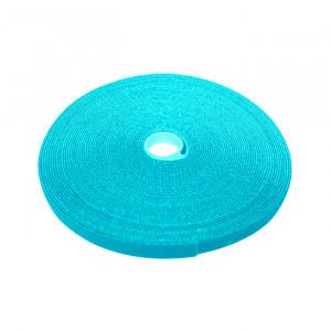 "ECLIPSE 3/4"" Wide Hook and Loop Tape Aqua (50 ft)"