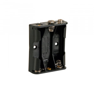 VELLEMAN Battery Holder for 3 'AA' Batteries with snap terminals