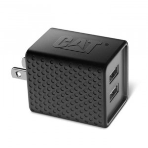CAT Dual USB 5VDC 3.4A AC Wall Adapter