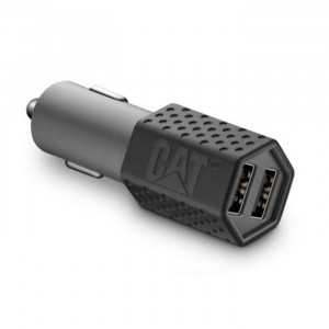 CAT Dual USB 5VDC 3.4A DC Car Adapter
