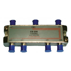 PHILMORE 6 Way Cable/TV Splitter 2GHz