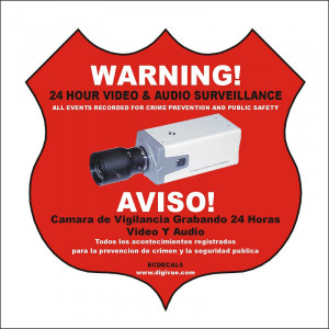 ELYSSA Audio/Video Surveillance Decal