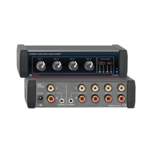 RDL Stereo Line-Level 4x1 Audio Mixer