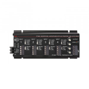 RDL 4 Channel Audio Mixer