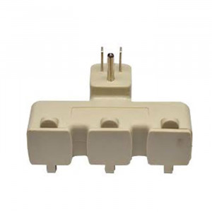 GOGREEN 3 AC Outlet Right Angle Tri-tap with Covers