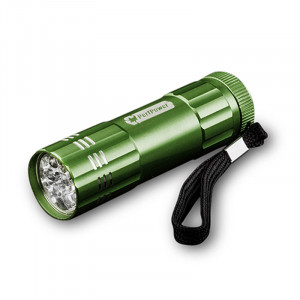 GOGREEN 9-LED Flashlight, Dark Grenn