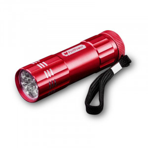 GOGREEN 9-LED Flashlight, Red