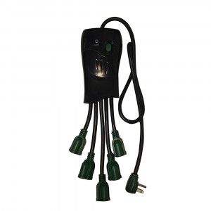 GOGREEN 5-Outlet Surge Protector 250 Joules