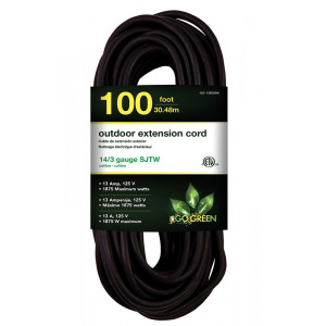 GO GREEN 14/3 100ft Heavy Duty Extension Cord