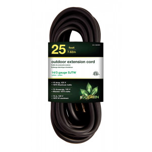 GO GREEN 14/3 25ft Heavy Duty Extension Cord