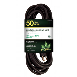 GO GREEN 14/3 50ft Heavy Duty Extension Cord