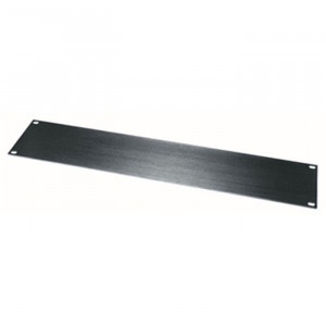 MIDDLE ATLANTIC 2U Blank Rack Panel with Black Anodized Finish
