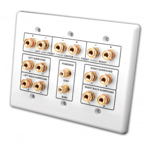 VANCO 7.2 Home Theater Connection Wall Plate