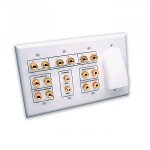 VANCO Whole House Audio and 7.2 Home Theater Wall Plate