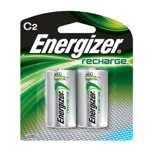 ENERGIZER Rechargeable NIMH C Battery 2pk