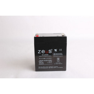 ZEUS Sealed Lead Acid Battery 12v 5ah F1 Tabs