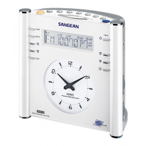 SANGEAN FM-RDS(RBDS)/AM/Aux-in Tuning Clock Radio with Radio Controlled Clock