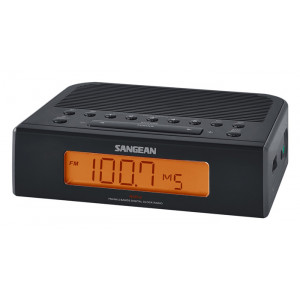 SANGEAN FM/AM Digital Tuning Clock Radio Black